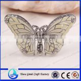 New and high quality crystal rhinestone crystal drip jewelry brooch bride wedding animal butterfly brooch