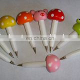 small mushroom wooden cartoon ballpoint pens
