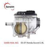 New Throttle Body 16400-RAA-A61 For 03-07 Hon-da Ac-cord 2.4L