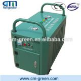 Rapid speed refrigerant recovery machine for screw units