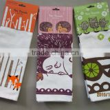 cotton/linen printed kitchen tea towel