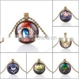 Wholesale unique design vintage bronze time machine pendants steampunk necklace cheap price