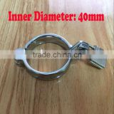 Wholesale metal cock ring with lock, Alloy penis erection helper, Inner D: 40mm Male sex toys, adult product