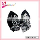 Well-known high quality factory direct wholesale fancy ribbon hair bow animal pattern hairgrips (DW--0027)