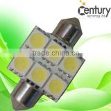 High quality alibaba suppliers 31mm led car festoon interior light CW WW R Y B G DC12V led festoon car lamp