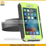 Waterproof Case for iPhone 6 plus Sports waterproof armband phone case with Full body covered green