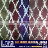 Poly Polyester Nylon Silver Metallic Fabric