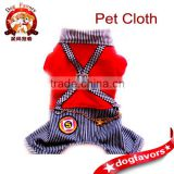 Pet Puppy students suspenders clothes Fashion show dog jean
