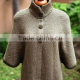 ALPACA WOOL PLAIN COLOR CARDIGAN/PONCHO