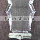 exquisite acrylic trophy/award/cup with wood frame/base