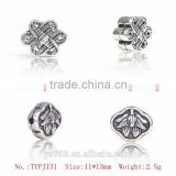 Yiwu Direct Happy Longlife Lock Shaped Thai Silver Charms Beads For Jewelry Making Supplies
