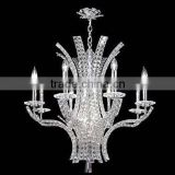 Fancy candle crystal modern led chandlier