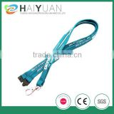 custom silk screen printing tubular lanyard with metal hook                                                                         Quality Choice