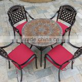 Outdoor Patio Garden Water Resistant Furniture Cast AluminumTable and Chairs Set                                                                         Quality Choice