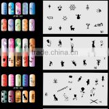20pcs Airbrush Nail Stencil Sheets with 300 Designs Art Paint Pages Set No.9 - Halloween, Christmas, etc