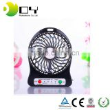 plastic air battery power portable cooling travel handheld rechargeable mini fan usb fan clock