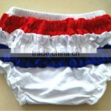 Sales Promotion!4th of july New arrive colorful chevron fabric chevron zig zag diaper fashion design chevron baby ruffle shorts