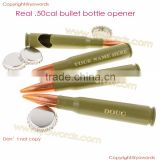 Real 50 Caliber Real Used Bullet Bottle Opener Olive