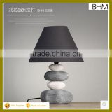 modern White and grey ceramic bedside edison table lamp for bedroom                                                                         Quality Choice