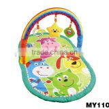 OEM ODM Gym mat children baby toy 2015 Infant Activity play Gym Carpet New design hanging folding baby play gym mat