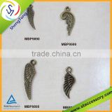 Wholesale angel wing charms, anti. brass alloy charm, bulk wing charms