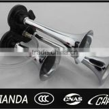 New 12/24v 135db Super Loud Chrome Triple Trumpet Air Horn Boat Bus Truck Lorry Train motorcycle