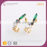 E73022I07 Pictures Of Gold Jhumka Earrings Design With Price 2016 New Design Gold Plated Green Black White Beads Earring