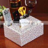 Creative leather storage bo multifunctional paper towel storage bo European type paper bo remote control bo