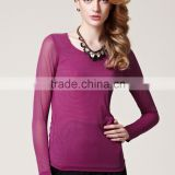 Women Long Sleeve Slim Fit See Through Mesh Tops T-Shirts Underwears OEM Manufacturers Factory From Guangzhou
