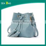 2016 New Personality is Distinct abd Designer Drawstring Brand Leather Fashion Handbags For Girls