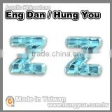 Bling Bling Lead Free 12mm Colorful Rhinestones English Letters For Craft