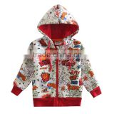 (A3445) white 2-6y Kids printed and embroidered sweatshirt winter plain 100% cotton hoodies blank hoodies