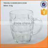 High quality round glass beer mug, glass beer cup with handle                                                                                                         Supplier's Choice