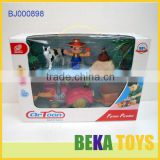 2014 Kids Plastic Happy Farm Toys Set Cartoon Universal Electric Toys Educational Farmer Toys
