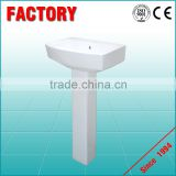 High Quality Ceramic Modern Bathroom Ceramic Sanitary Ware Vanity Pedestal Basin and Two Piece Toilet Bathroom Set