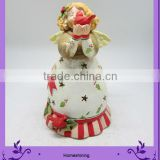 resin ornament baby doll in shape of girl and bird
