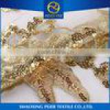 Textile supplier embroidery upholstery fabric, red embroidery lace, dubai fabric embroidery fabric