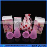 Hygiene Medical Supplies For Lady Menstrual Period Used Silicone Cup In S & L two sizes