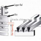 316L AISI Stainless Steel well drilling wedge wire screen