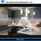 Prefab Modern artificial marble countertop modular kitchen cabinet color combinations
