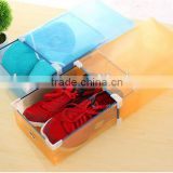 Colorful Printing Transparent Plastic Stackable Shoe Box clear plastic drawer shoe box pp plastic shoe box