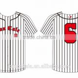 Kangakaia manufacturer top quality Baseball Tee Shirts custom pinstripe baseball jersey wholesale Embroidered Dri Fit BS004