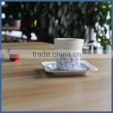 Wholesale ceramic porcelain espresso cups and sacuers for coffee