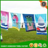 Gold Supplier Cartoon Sport Custom Plain Hand Made Cut Pile Face Beach Towel With Low Price