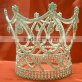 Luxury Rhinestone Full round pageant crown