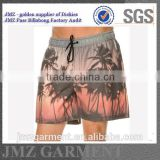 JMZ custom OEM wholesale boardshorts swimwears with sublimation palm tree printing own design low moq China Alibaba