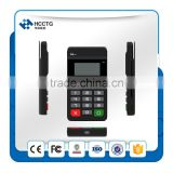 Mobile payment terminal Magnetic Card Reader/NFC Reader & Writer/IC chip card reader +Display+Keypad--HTY711