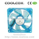 92x92x25mm PC Case Cooling fan,9225 UV LED Axial Fan,DC 12V,Sleeve or Ball bearing,Exhaust lighting fan