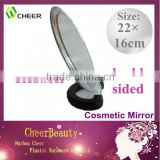 Double Sided Cosmetic Cheap Plastic Mirror CM009/mirror folding kit /metal compact mirror