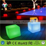 Rechargeable LED Light Cube Chair, Indoor & Outdoor Garden Party Pool Wedding Mood colorful lights with Remote Control